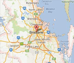 Map of Greater Brisbane